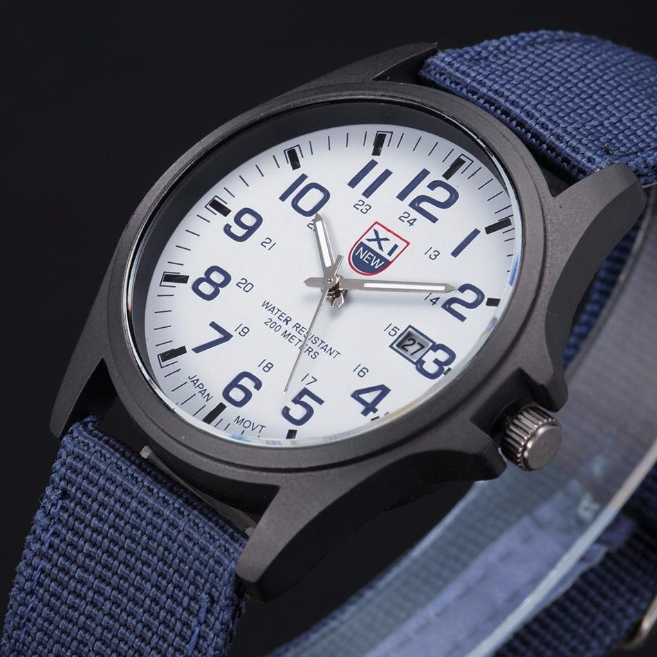 Fantastyczny xinew luksusowe boisko sportowe mężczyzna zegarka kalendarz data mens steel analogowe kwarcowy zegarek wojskowy erkek relogioi kol saat 11
