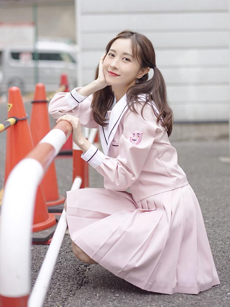 La dernière série japonaise/coréenne étudiant costume filles/femmes mignonnes Cosplay marin costume école uniformes vêtements marine Top + jupes