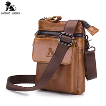 Casual Fanny Waist Pack Solid Genuine Leather Unisex Small Mens Belt Bags Zipper Travel Cow Multifunctional