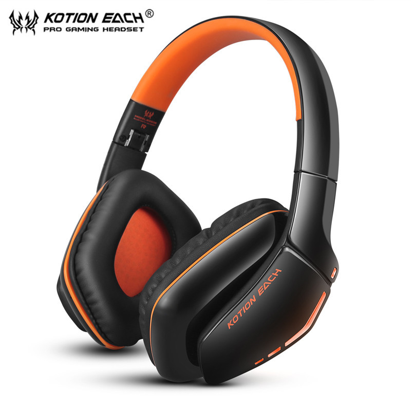 KOTION EACH B3506 Bluetooth Headphones Foldable Wireless Deep Bass Stereo PS4 Gaming Headsets with Mic Led Handsfree for Phone kotion each b3506 foldable wireless bluetooth headphones gaming casque hifi bass stereo headset with mic for phone ps4 tablet pc