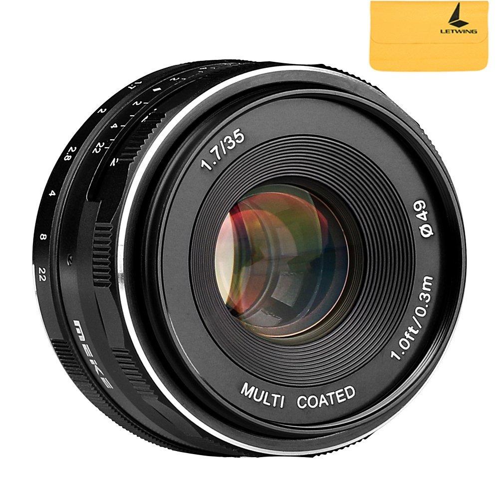 MEKE Meike MK-35mm F1.7 Large Aperture Manual Focus Lens for Nikon1 Nikon1 V1/J1 meike mk d750 battery grip pack for nikon d750 dslr camera replacement mb d16 as en el15 battery
