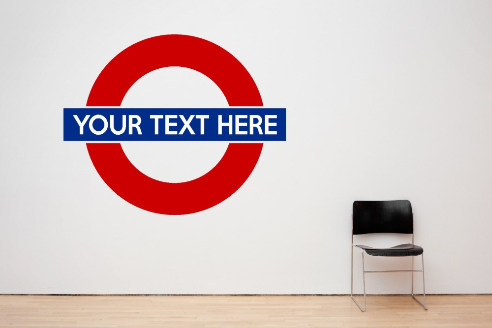 London underground symbol wall decal personalized vinyl for Decor mural underground