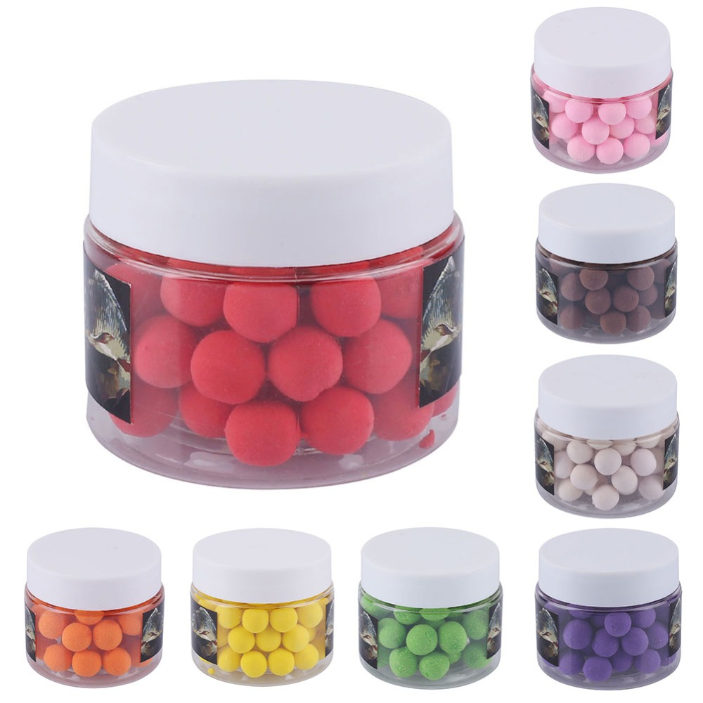 50pcs/box Smell Pop Ups Carp Fishing Bait 10mm Floating Ball Beads Feeder Artificial Carp Baits Lure 8flavors Fishing Beads Bait