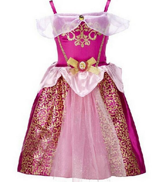 DB23655 Children Girl princess sofia dress-15