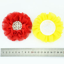 Lace Headband with Double Baked Burn Fabric Satin Rosette Flowers Kids Headband Hair Accessories