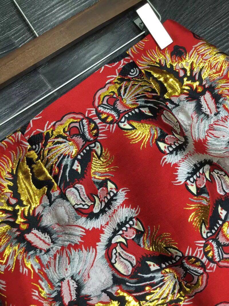 Faldas Rodilla Imperio Primavera longitud Mujeres Bordado Patrón La Alta Animales Moda 2018 Cintura Última De Falda YzqHvnwX