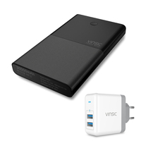 Vinsic 30000mAh Power Bank Universal USB Travel LCD External Portable Battery Charger For Iphone Sumsung Huawei