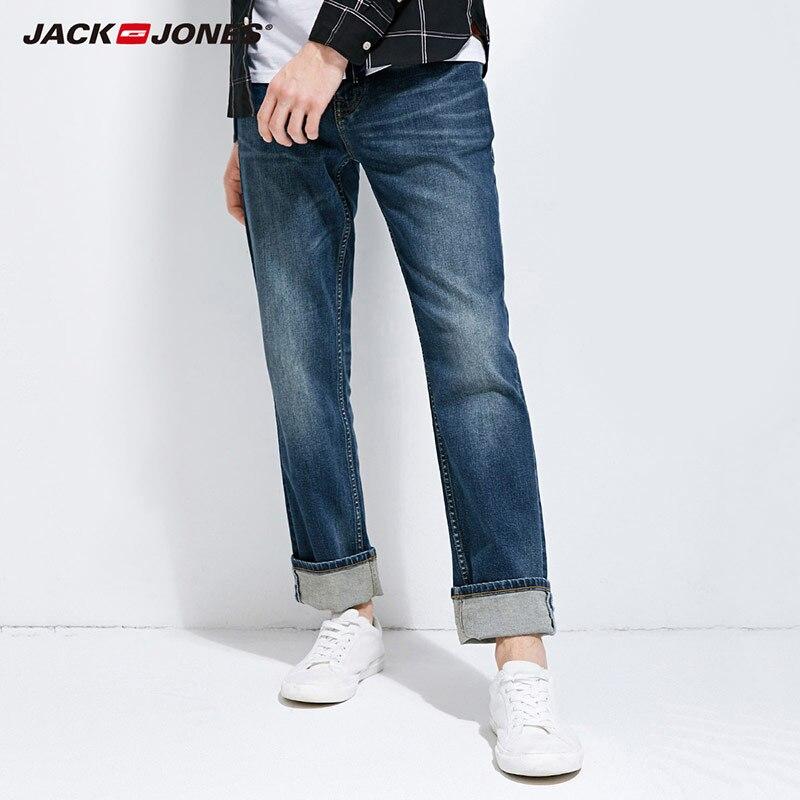 JackJones 2018 Brand Nieuwe mannen Lycra & Katoen Oversize Loose Fit Stretch Jeans Broek Denim Broek mannen Biker mode 218132571