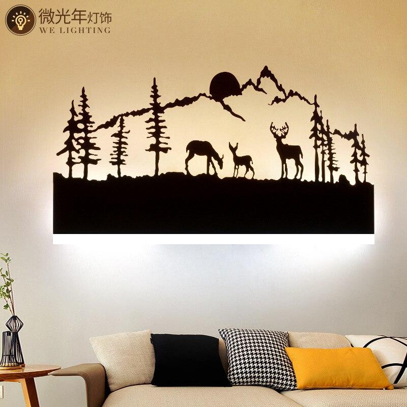 Black Acrylic Creative Modern Led Wall Light For Living Room Beside Room Bedroom Lamps LED Sconce Bathroom Wall Lamp LED Lustres