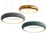 Black White Green Grey Kitchen Room Modern LED Chandelier For Dinning Room Bar Living Room Hanging