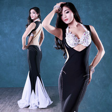 Bellydance oriental Belly Indian gypsy dance dancing costume costumes clothes bra belt chain scarf ring skirt dress set suit 190