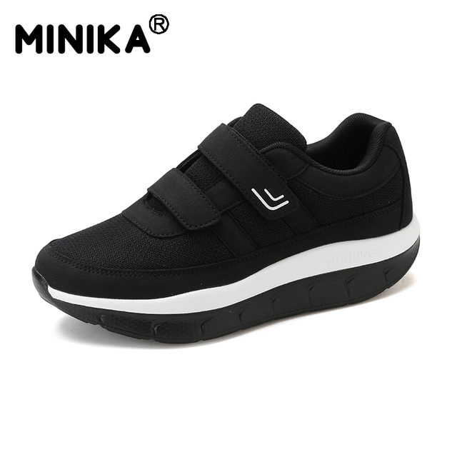 Minika Women s Comfortable Swing Platform Shoes Mother Breathable Mesh Shoe  Zapatos De Mujer Fitness Sneakers Sapatos Mulher ae5e4394a173