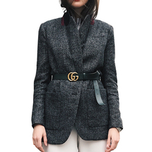 AEL Stylish Slim Suit Jacket 2017 Winter Women's Fashion Office Work Basic Apparel High Quality Coat Woman Without Waist Belt