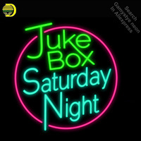 Neon Signs for Juke Box Saturday Neon Light Sign Handcrafted Neon Bulbs sign Glass Tube Decorate Hotel Room Signs dropshipping|Neon Bulbs & Tubes| |  -