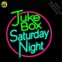 Neon Zeichen für Juke Box Samstag Neon Licht Zeichen Handcrafted Neon Lampen zeichen Glas Rohr Schmücken Hotel Zimmer Zeichen dropshipping-in Neonröhren & Röhren aus Licht & Beleuchtung bei