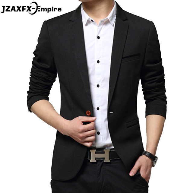 Men's Blazer 2017 Brand New Men's Casual Slim Fit Suit Coats Plus Size 5XL Terno Masculino Top Quality blazers men