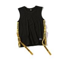 Ribbon Top Women Summer Sleeveless Blouse Streetwear Hip Hop Women Tops Loose Casual Tank Top Fitness