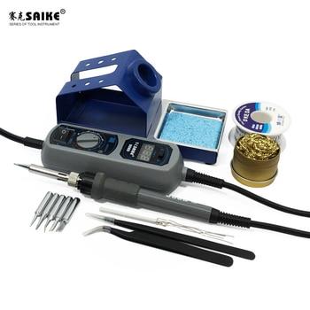 SAIKE 908D Portable Thermostat Soldering iron Heat Electric soldering iron Welding Soldering Adjustable Temperature 220V EU цена 2017