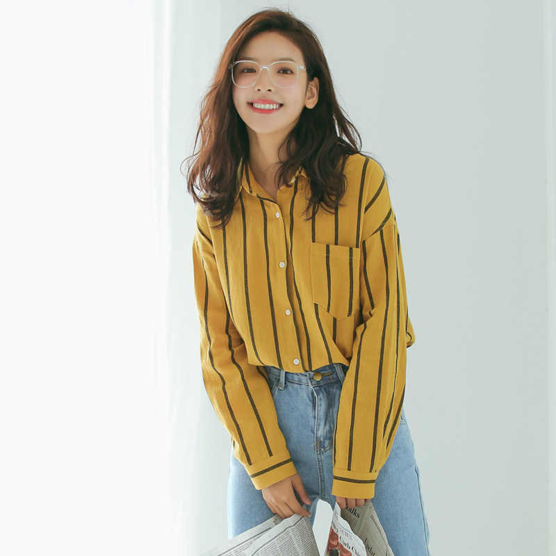 17177eb88c1 Detail Feedback Questions about Casual loose striped shirt on ...