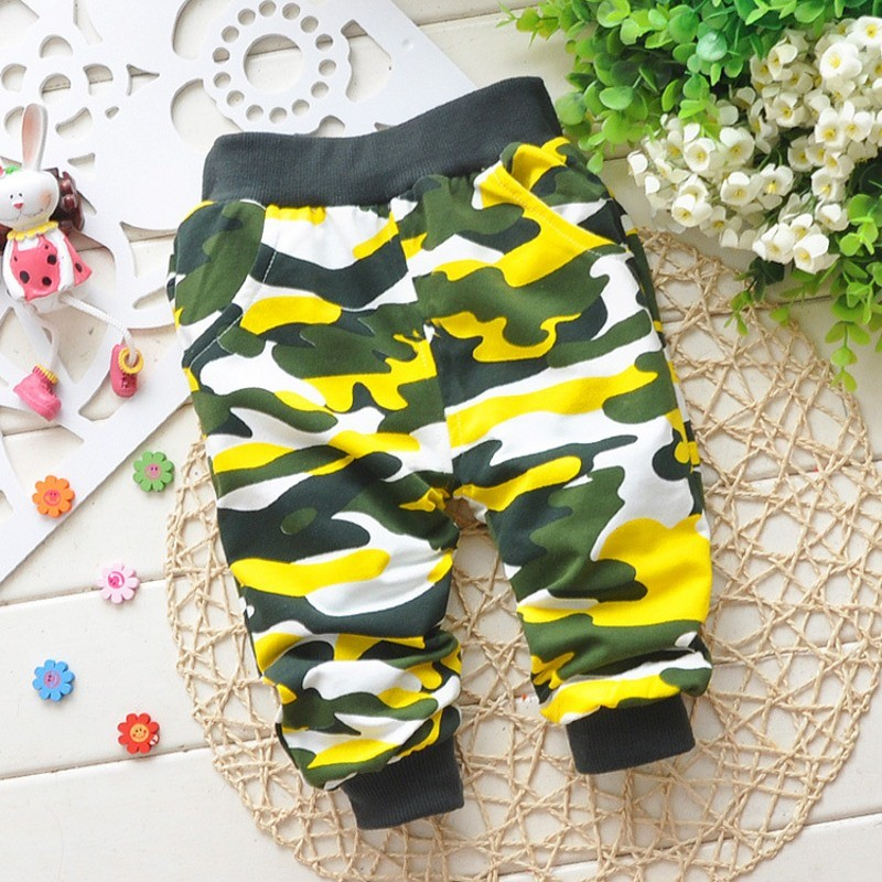 Lovely Newborn Baby Boy Camouflage Pants