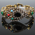 antigue turkish oriental ottoman hurrem sultan handmade bracelet jewelry vintage retro gold resin crystal woman bracelet hot