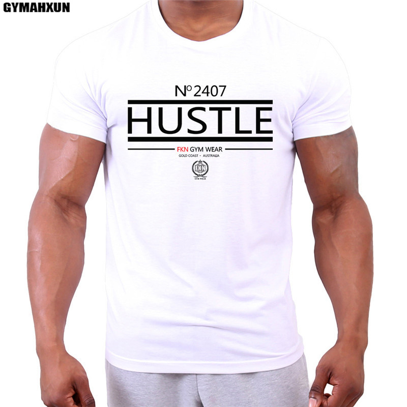 GYMAHXUN O-neck slim fit Short-sleeved T-shirt men's sweatshirt Bodybuilding tee casual breathable hot Selling men t shirt tops