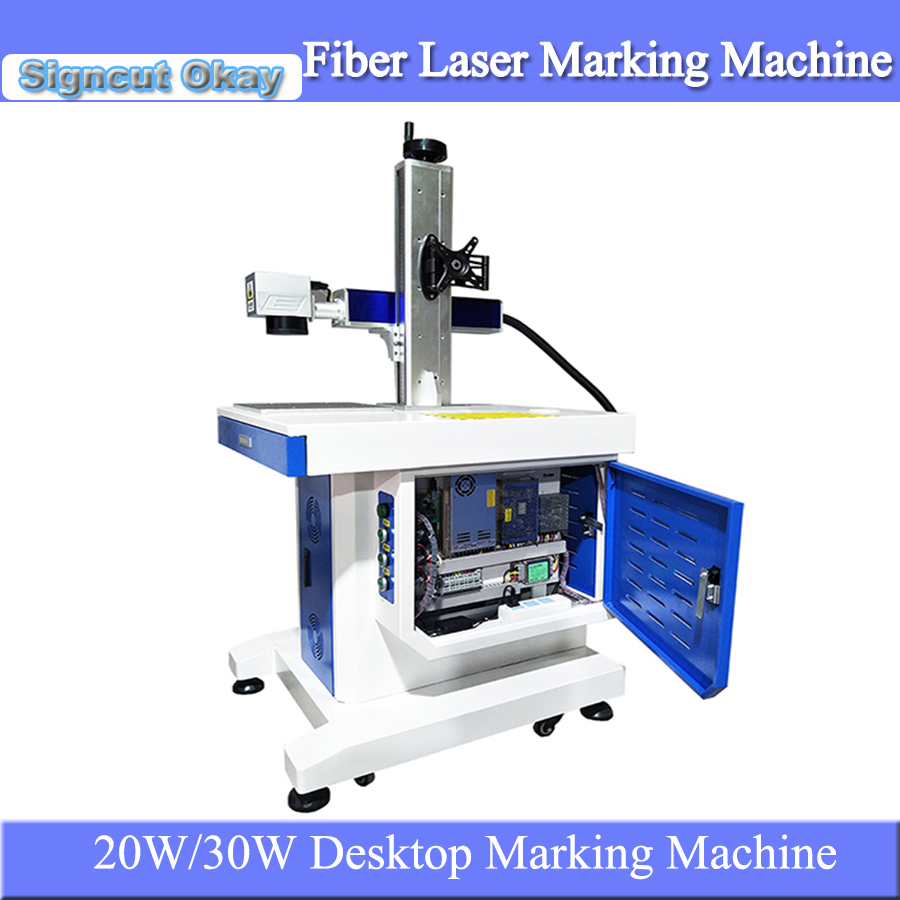 China Good Quality 20W/30W Desktop Fiber Laser Metal Engraving Machine Laser Marker Machine For Gold And Silver Jewelry Caving