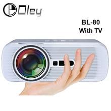 BL-80 Android Wi-Fi HD Мультимедиа светодиодный проектор AV/HDMI/ATV/USB 1800 люмен Видеоигры ТВ Проектор для домашнего кинотеатра proyector