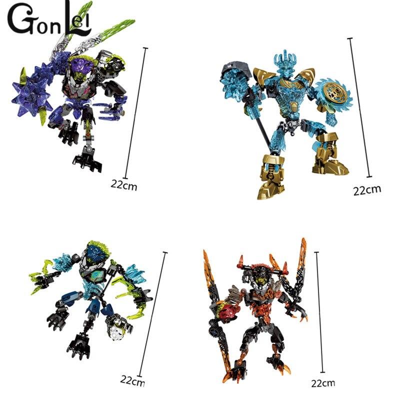 GonLeI Marvel Avengers Super Héroes Bionicle CALI maestro de agua XSZ Building Block ladrillos juguetes para niños juguetes Christma