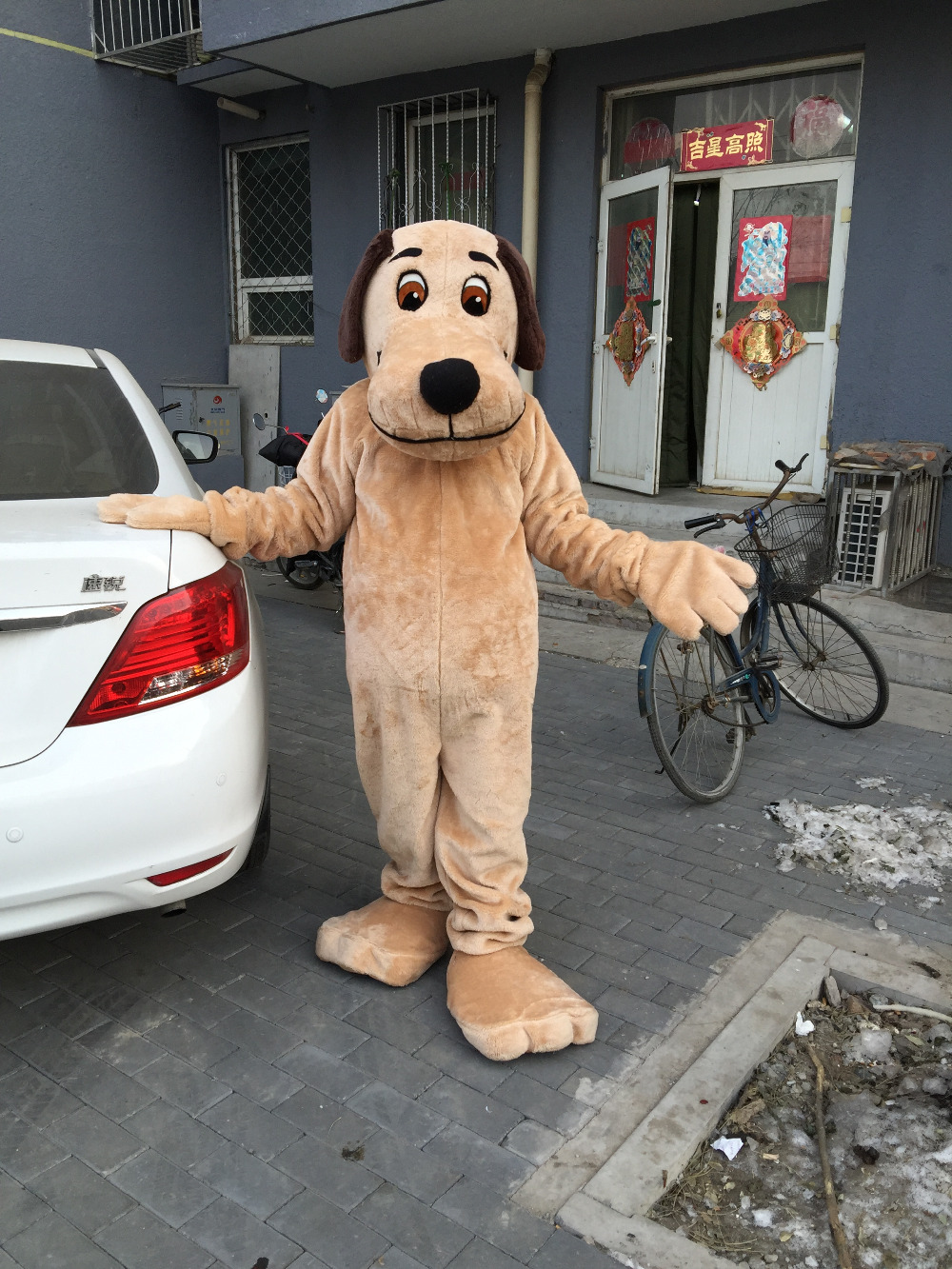 High Quality Brown Dog Mascot Costume Adult Size Halloween Outfit Fancy Dress Suit Free Shipping 2019New