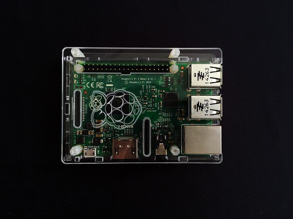 Free Shipping NEW Super Thin Acrylic Raspberry Pi 3 Case Compatible Raspberry Pi B+/2 Raspberry Pi Box