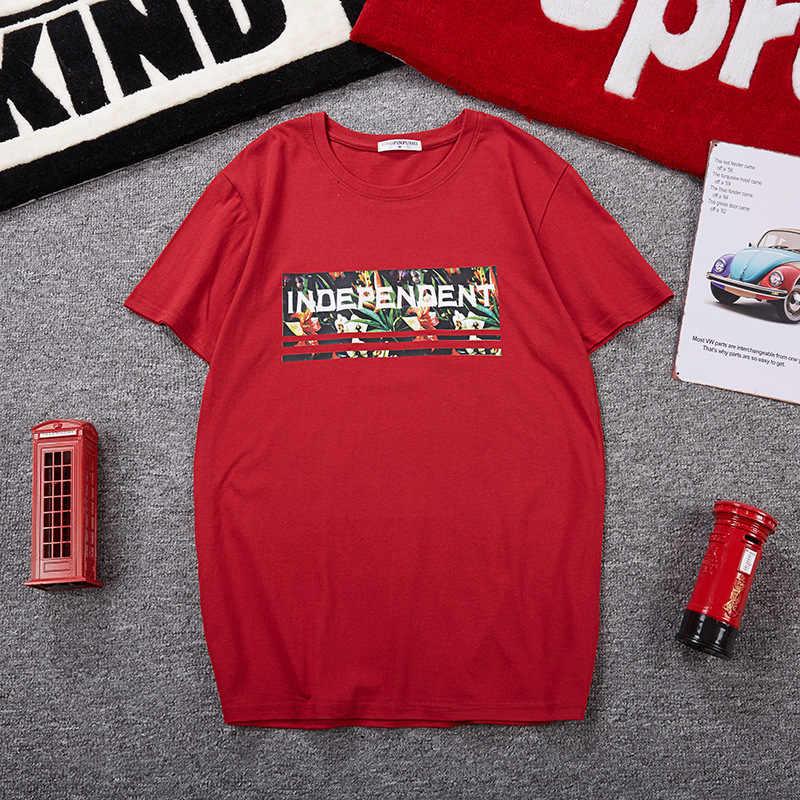 남자 빅 사이즈 T 셔츠 일본 스타일 편지 Hipster 여름 대형 플러스 T 셔츠 6XL 7XL 10XL 짧은 소매 코튼 프린트 레드
