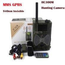 """Scouting cámara de la caza 940NM HC300M Nueva HD 1080 P GPRS MMS Digital Por Infrarrojos Cámara Trail GSM 2.0 """"LCD IR cazador de la Leva"""