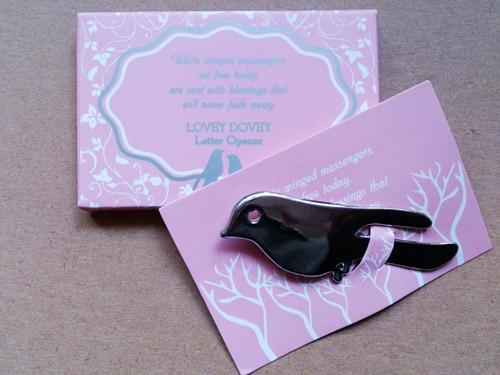 Velkoobchod Weddin Favor 200pcs / lot Love Birds Letter Otvírák Suvenýry pro svatební party doprava zdarma