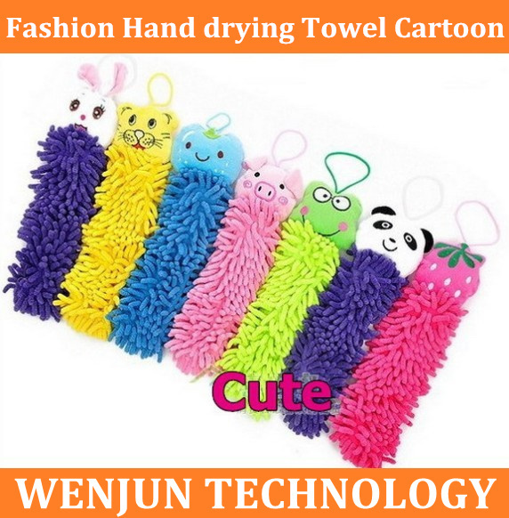 Free shipping Fashion Hand drying Towel Cartoon Microfiber Fabric Cute animal towel lovely animal face towel,8 designs to choose