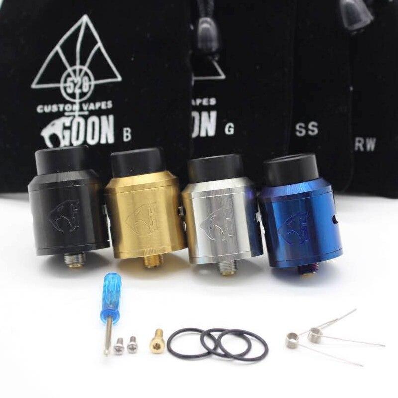 Goon v1.5 RDA Zerstäuber mit BF PIN 528 RDA Elektronische Zigarette Zerstäuber Tank Holt Tropft Zerstäuber Einstellbare Luftstrom