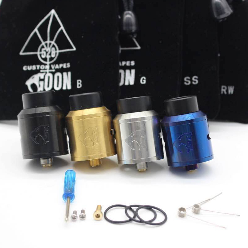 goon v1.5 RDA Atomizer with BF PIN 528 RDA  Electronic Cigarette Atomizer Tank Rebuildable Dripping Atomizer Adjustable Airflow стоимость
