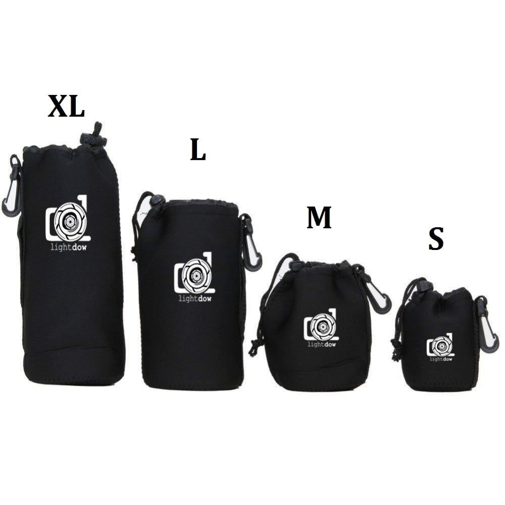 LightDow 4 Size XL L M S Neoprene Soft Camera Lens Pouch Bag Case for Cannon Nikon Sony Olympus Pentax DSLR Camera Lens
