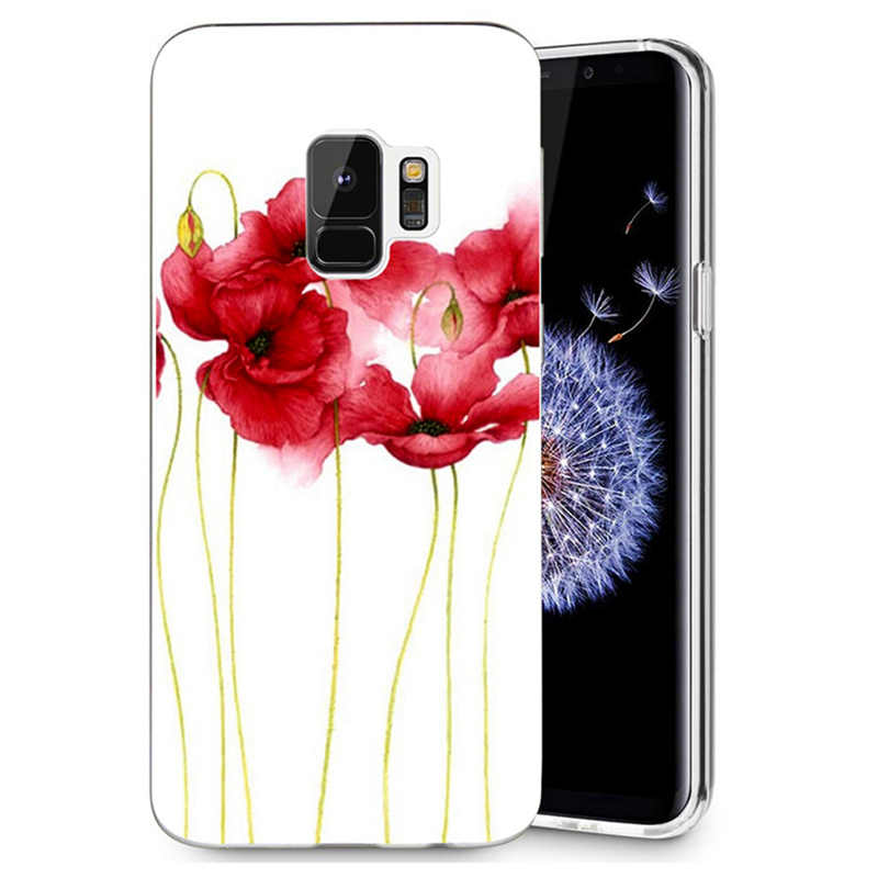 ТПУ класса люкс для samsung Galaxy S3 S9 S9Plus S8 S8 плюс S7 S7 edge Note 8; разноцветная мягкая обувь с цветочным рисунком цветок уход за кожей лица Дизайн чехол для мобильного телефона R080