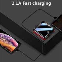 10000mAh Power Bank LED External Battery Case Dual USB Portable Mobile phone Charger For Xiaomi/Samsung/iphone External Charger