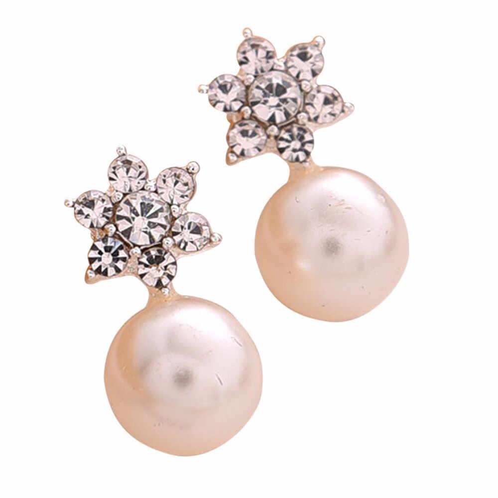 fashion earrings for women Charm Jewelry Pair Snowflake Crystal Stud Earring pendientes mujer best gift earrings 2019
