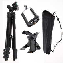 Профессиональный фотоаппарат штатив стенд держатель для iphone ipad samsung galaxy + держатель телефона + стол/pc держатель + нейлон носит мешок