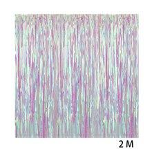 Украшения стены прозрачные красочные пластиковые дома День рождения дождь бахрома занавес фоны вечерние фотобудка Свадебные блестящие двери