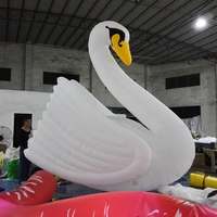 Hot sale 4m advertising white giant inflatable swan model inflatable for park decoration
