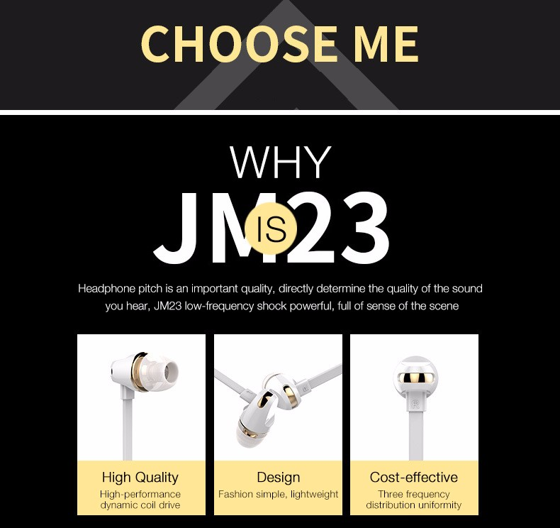 Langsdom Mini Earphone JM23 for music gaming call portable headset office wired in-ear stereo earbuds earphones with microphones