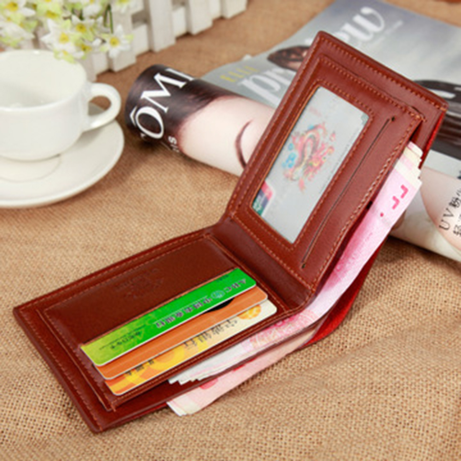 Small Slim PU Wallet Fashion Short Paragraph Forever Young Luxury Vallet Boys Cute Wallet Porta Credencial Carpeta Walet 50QB032(China)