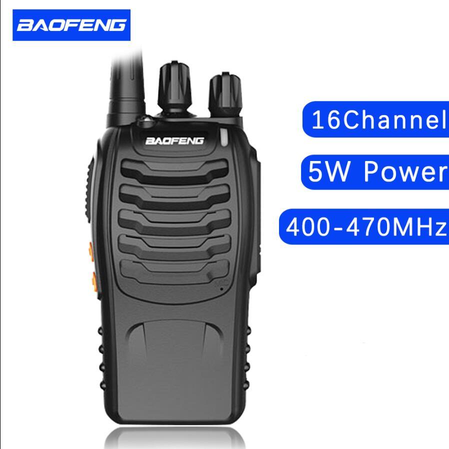 Baofeng 888s walkie talkie UHF 400-470 MHz 5w dengan baterai 1500mAh - Walkie talkie