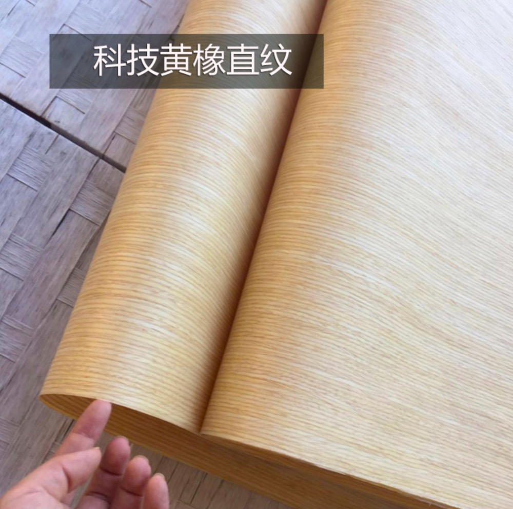 10Pieces/Lot  L:2.5Meter  Width:55cm  Thickness:0.25mm  Technology Straight Grain Yellow Oak Bark Wood Veneer