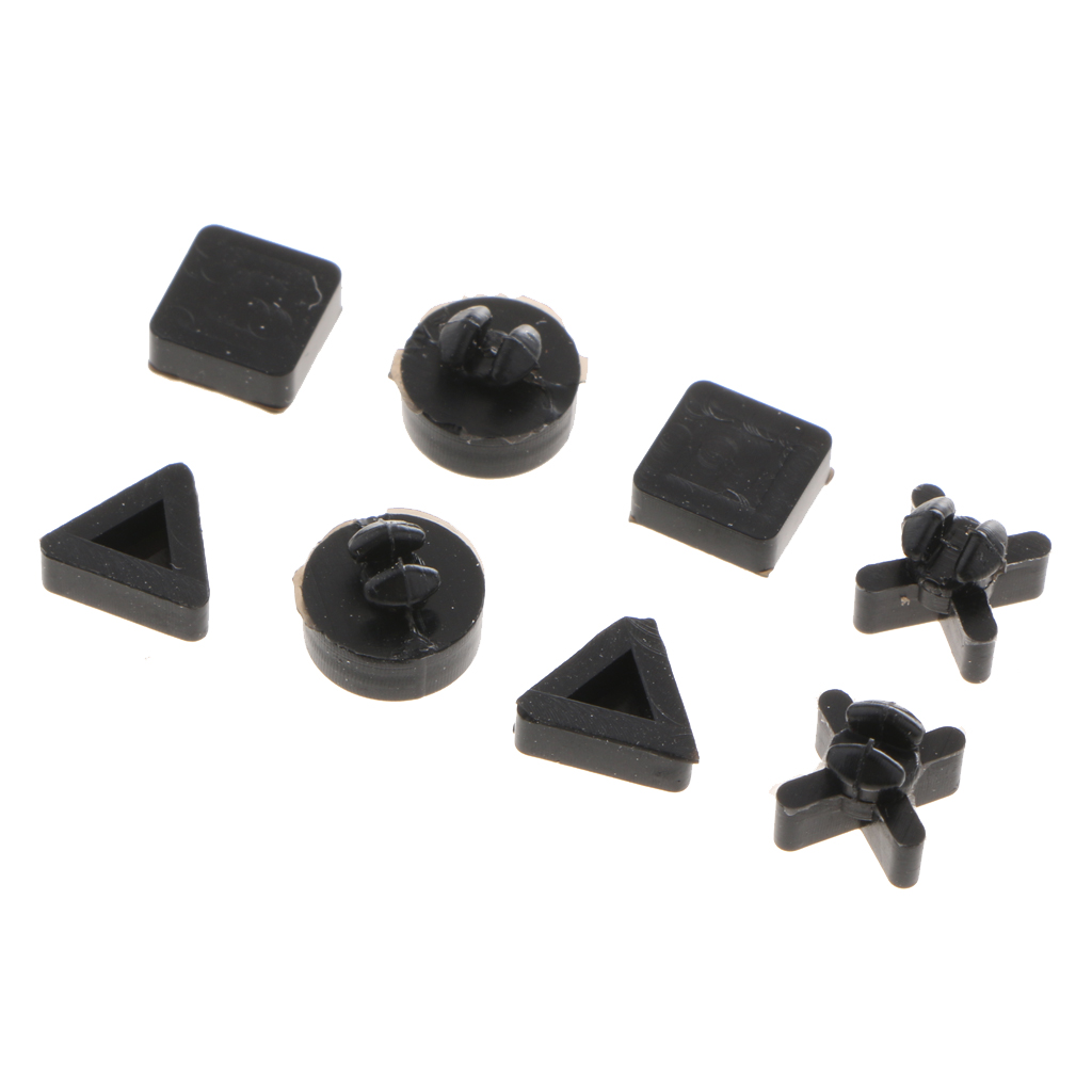 Bottom Feet Pad Set Kit Replacement Part For Sony PS4 Pro Video Game Console 8x Anti-slip Rubber Bottom Feet Pad Set