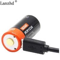 16340 CR123A Wiederaufladbare Li-Ion Batterie Lila 3,7 V batterien Für LED Taschenlampe